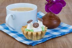 Creamy basket Stock Photos