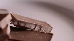 Chocolate Bars on Rotating Plate 3 Stock Footage