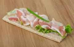 Bacon sandwich - stock photo