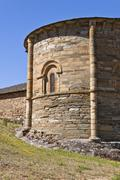 Apse of the Santiago Church in Villafranca del Bierzo. - stock photo