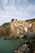 Riomaggiore, Italy - stock photo