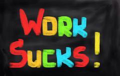Work Sucks Concept Stock Illustration