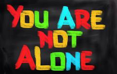 You Are Not Alone Concept - stock illustration