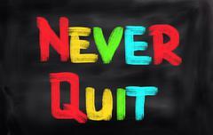 Never Quit Concept - stock illustration