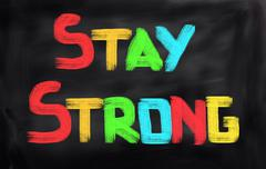 Stay Strong Concept - stock illustration