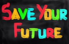 Save Your Future Concept Stock Illustration