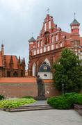 Monument to Adam Mickiewicz Stock Photos