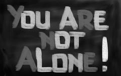 You Are Not Alone Concept Stock Illustration