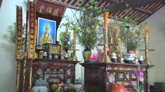 Altar in Ho Chi Minh City, North Vietnam - stock footage