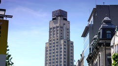 ULTRA HD 4K real time shot,The Boerentoren building in Antwerp Stock Footage