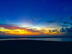 Aruba sunset Stock Photos