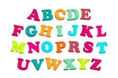 Alphabet with Colorful Letters - stock illustration