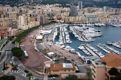 Monte Carlo Harbour, Monaco Stock Photos