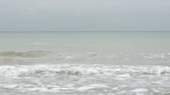 Panorama of the sea waves. Slow motion. Stock Footage