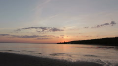 Beautiful Sunset Sky on the Beach - stock footage