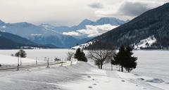Winter Scene, Italy Stock Photos