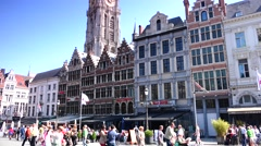 ULTRA HD 4K real time shot,The Grand Place with the Statue of Brabo,Antwerp - stock footage
