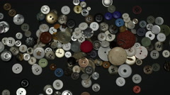 Stock Video Footage of GRANDMA'S BUTTON COLLECTION in 4K.