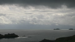 Stormy Coastal Sky in Brittany France Stock Footage