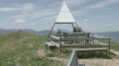 Swiss mountain Viewpoint Stöcklichrüz Schwyz - stock footage