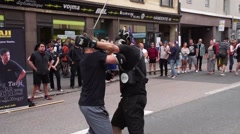 Baji Martial Arts Street performance part 2 Stock Footage
