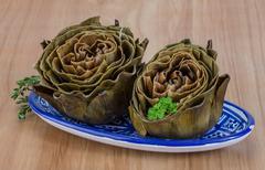 Boiled artichokes Stock Photos