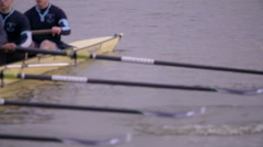 Rowing Team Oars Close-Up 2 - stock footage