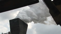 Tower to extinguish coal - stock footage