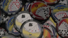 CASINO CHIPS.   Version 2 of 2. - stock footage