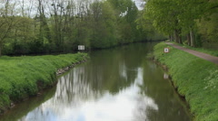 Nantes Brest Canal near Pleugriffet in Brittany France Stock Footage