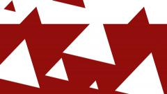 Red & White Triangles in Motion - Transition - JA.mp4 Stock Footage