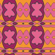 Abstract seamless ornament pattern. the kaleidoscope effect. Ethnic damask mo - stock illustration