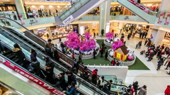 The customers in APM shopping mall of Wangfujing in Beijing,China. Stock Footage