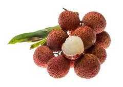 Asian fruit lychee Stock Photos
