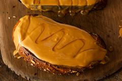 Gourmet Peanut Butter and Honey Toast Stock Photos