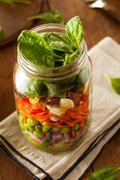 Healthy Homemade Mason Jar Salad - stock photo