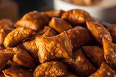 Organic Salty Peanut Butter Pretzel Stock Photos