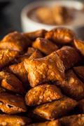 Organic Salty Peanut Butter Pretzel - stock photo