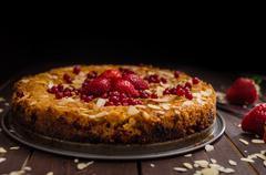 Homemade polenta cake - stock photo