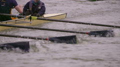 Rowing Team Oars Close-Up 10 Stock Footage