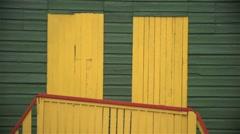 Beach hut doors. Stock Footage