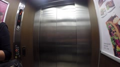 Walking from a elevator to the hotel room Stock Footage