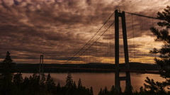 The High Coast Bridge sweden timelapse 1048 Stock Footage
