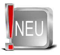 New Button - in german - stock photo