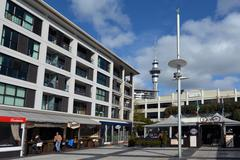 Market Square at viaduct basin in Auckland - New Zealand Stock Photos