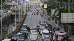 Time Lapse of City Traffic - Downtown Bangkok Thailand Stock Footage