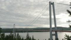 High coast bridge Sweden 1064 - stock footage