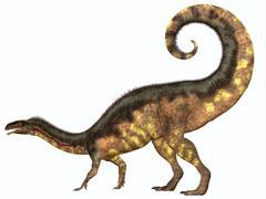 Plateosaurus Dinosaur Tail Stock Illustration