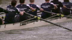 Rowing Team Oars Close-Up 13 Stock Footage