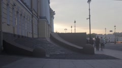 Senate Square (Saint Petersburg) Stock Footage